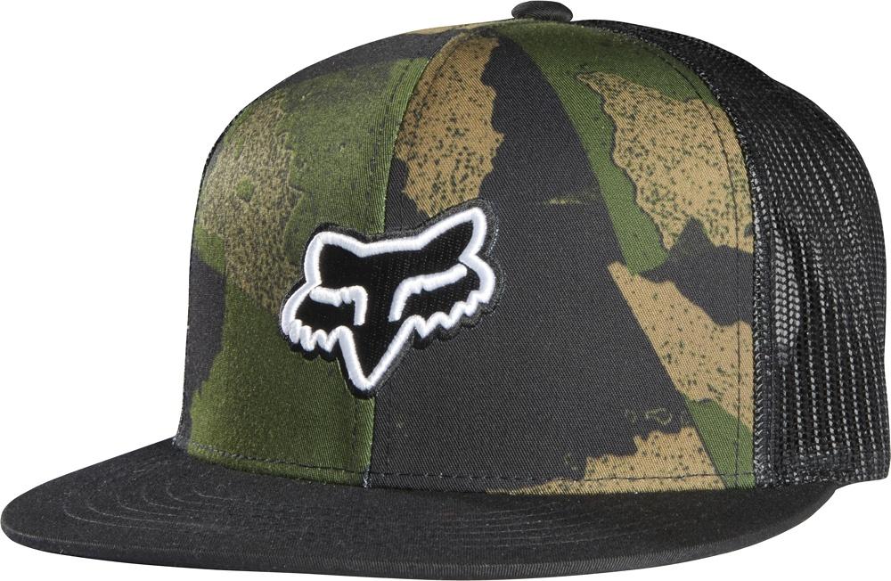 Kšiltovka fox carnage camo snapback hat black