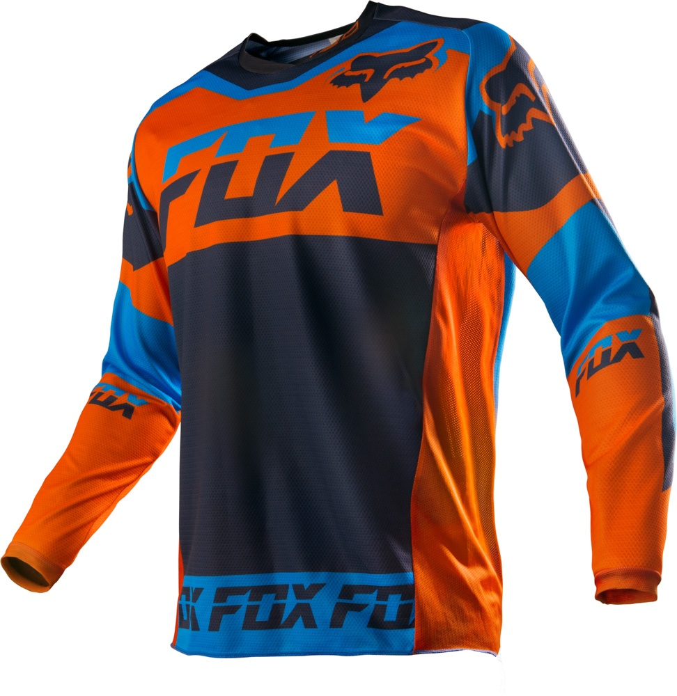 p nsk dres na motokros enduro ty kolku fox 180 mako jersey orange. Black Bedroom Furniture Sets. Home Design Ideas